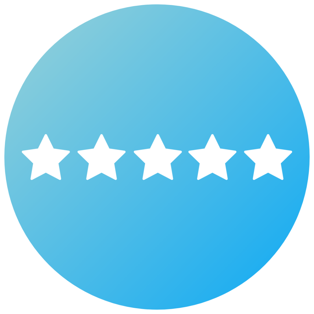 Icon for 5 star satisfaction