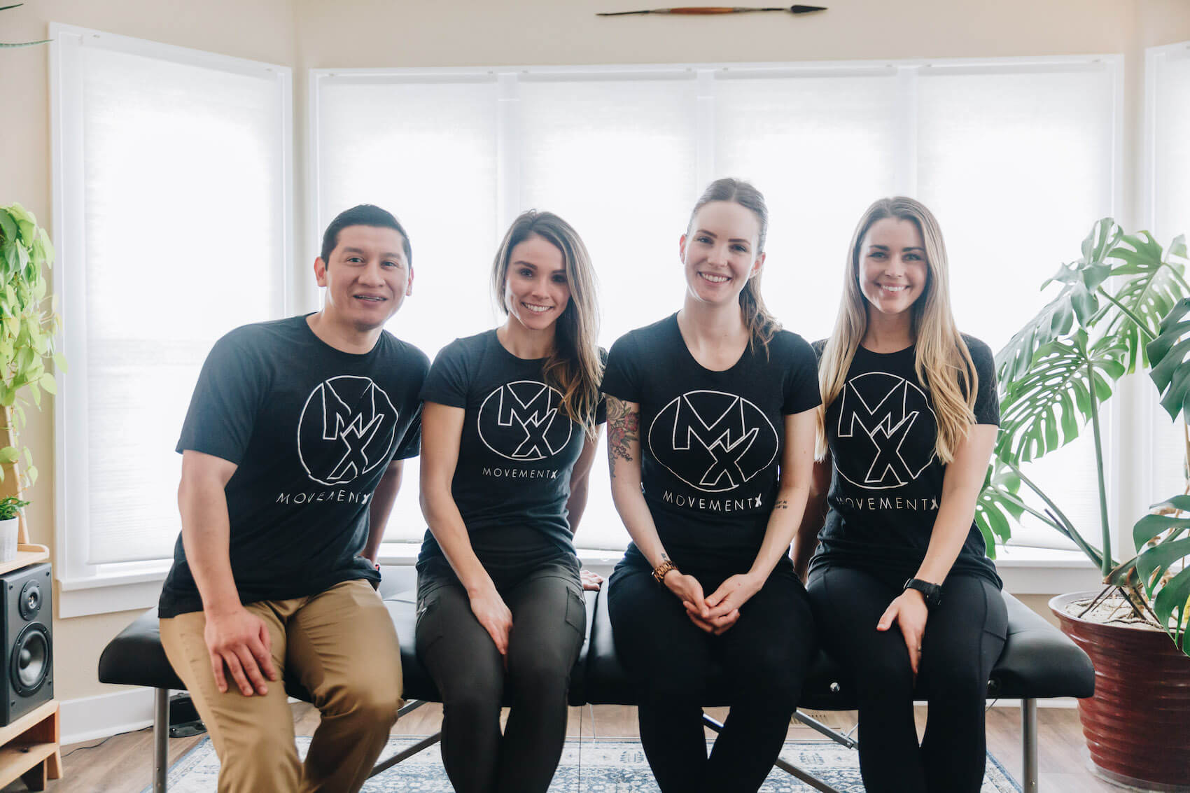 MovementX physical therapists posing together in Portland, Oregon