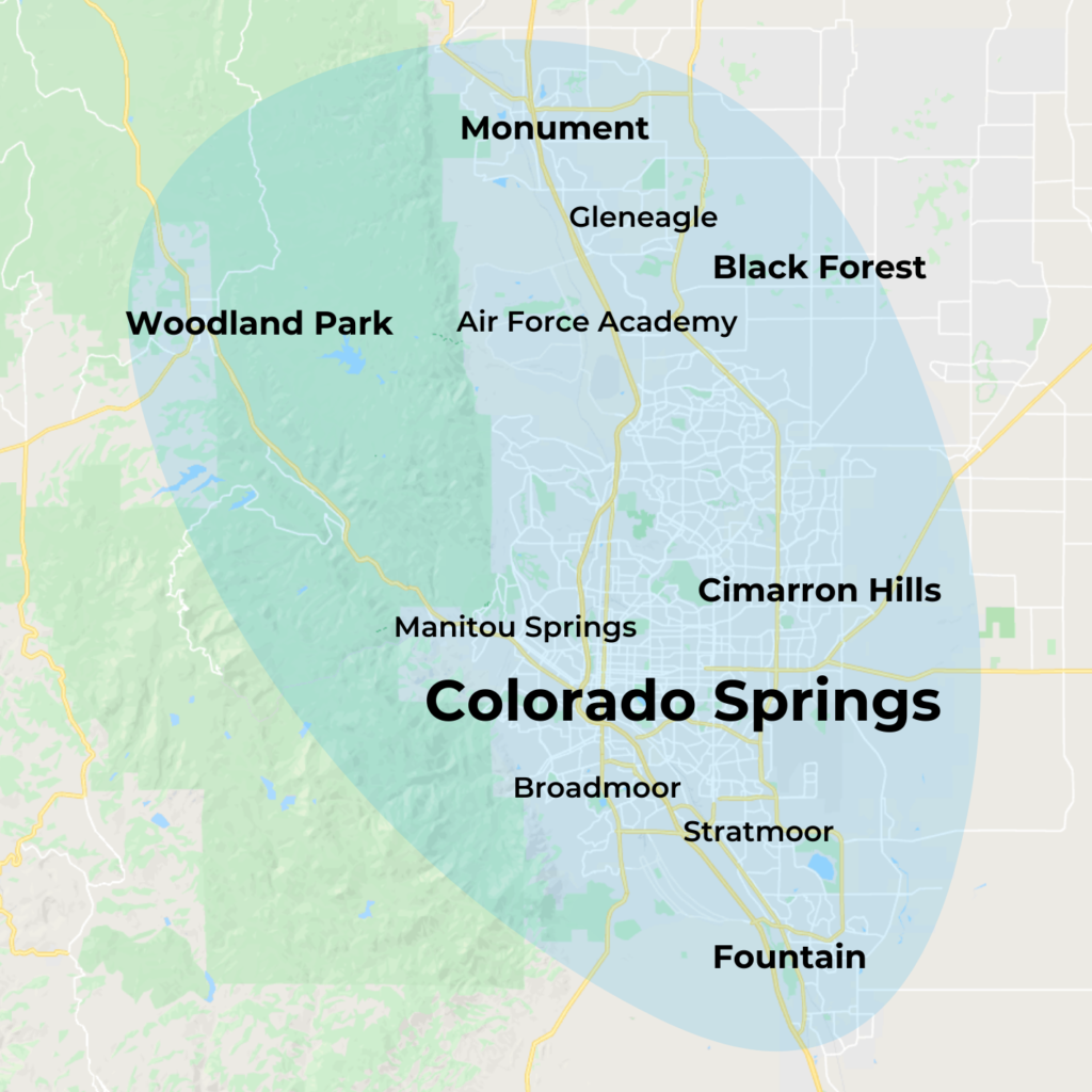 Map of MovementX Physical Therapy in Colorado Springs, CO