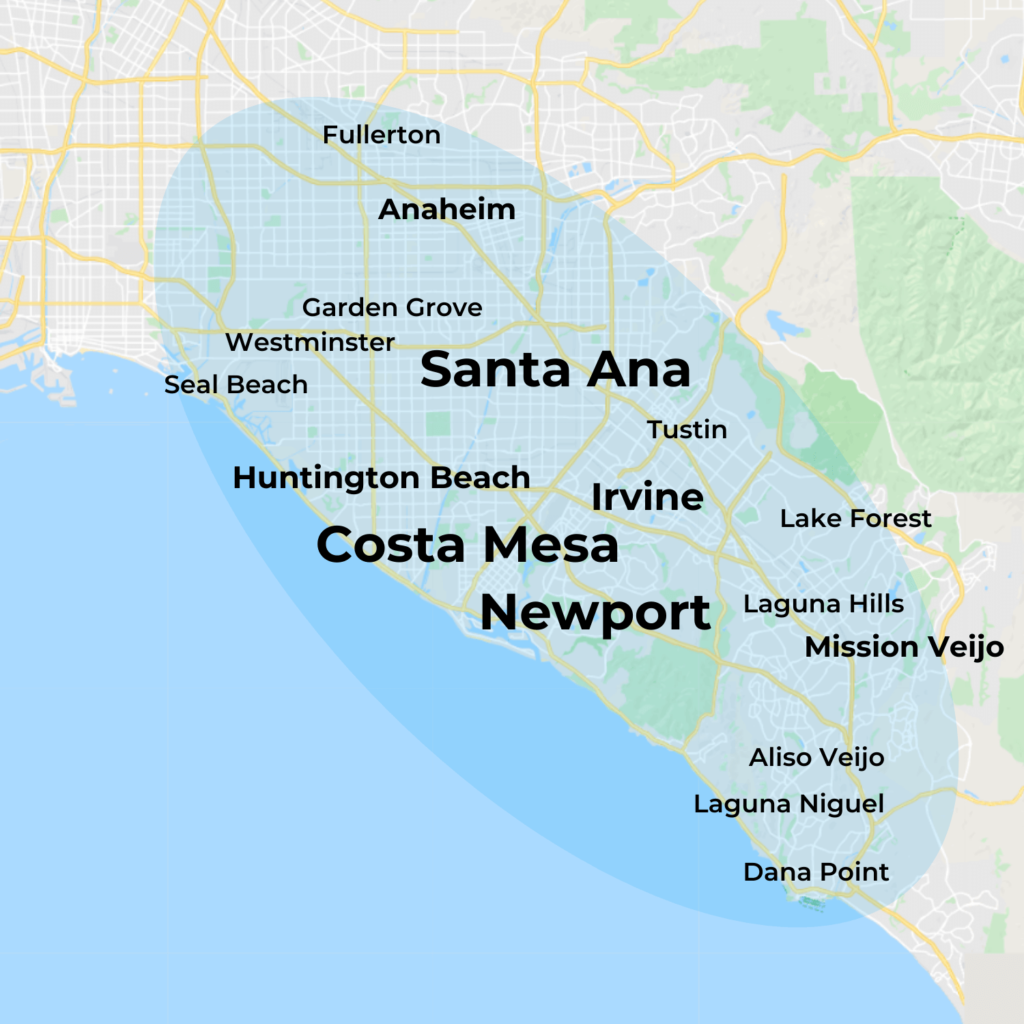 Map of MovementX Physical Therapy in Orange County