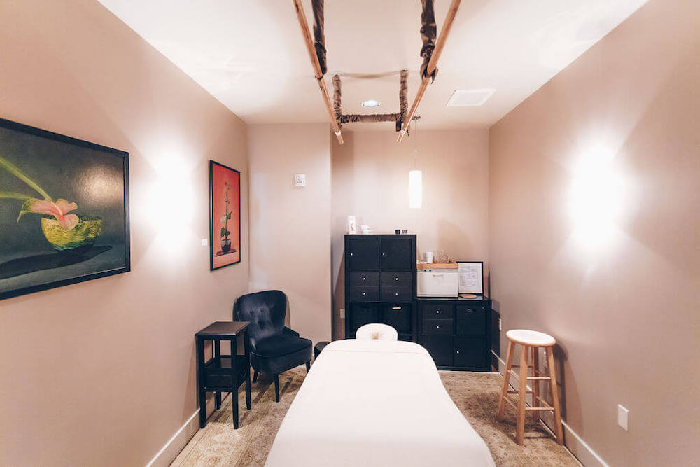 Treatment room out of Trainer's Club for MovementX Physical Therapy in Lake Oswego, OR
